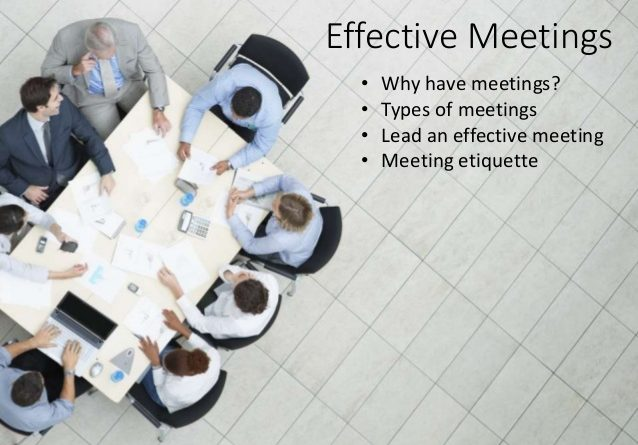 Training Manage an Effective Meeting